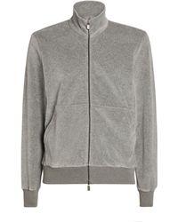Canali Zip-front Sweatshirt - Grey