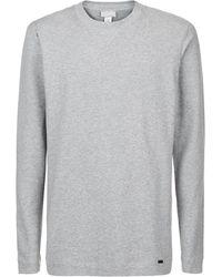 Hanro Marl Lounge Top - Gray
