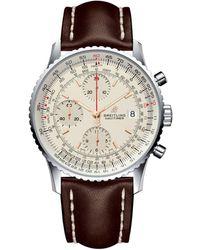 Breitling Stainless Steel Navitimer 1 Chronograph Watch 41mm - Metallic