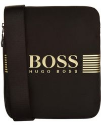 a932447c17aa Boss Green Wash Bag In Nylon With Trim   pixel washbag  in Blue for ...