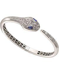 BVLGARI - White Gold Sapphire & Diamond Serpenti Bracelet - Lyst