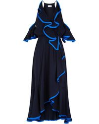 MILLY - Bryce Ruffle Trim Dress - Lyst