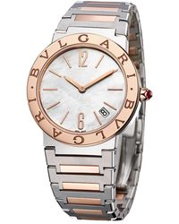 BVLGARI Rose Gold, Stainless Steel And Mother-of-pearl Lady Watch 33mm - White