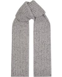 Johnstons - Cashmere Ribbed Knit Scarf - Lyst
