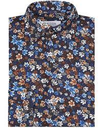 Eton of Sweden - Cotton Dark Florals Shirt - Lyst