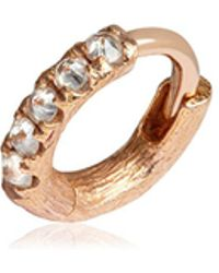Annoushka - Dusty Diamonds Single Rose Gold Hoop Earring - Lyst