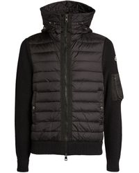 Moncler Zip-up Padded Cardigan - Black