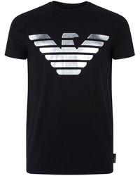 Emporio Armani - Metallic Logo T-shirt - Lyst