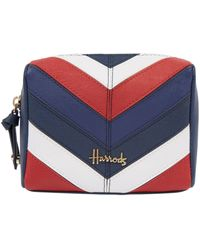 Harrods Union Jack Stratford Cosmetic Bag - Blue