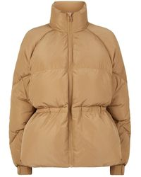 Ganni Oversized Puffer Jacket - Natural