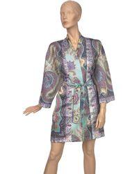 Etro Aigues Kimono Robe (one Size) - Green