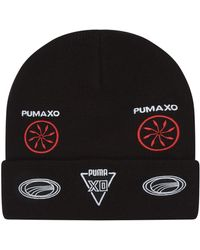 ded32823711 PUMA Jacquard Logo Balaclava Beanie in Black - Lyst