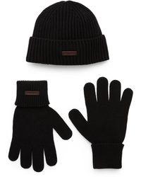 DSquared² Ribbed Hat And Gloves Set - Black