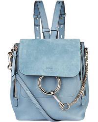 Chloé - Chlo Medium Faye Backpack, Blue, One Size - Lyst