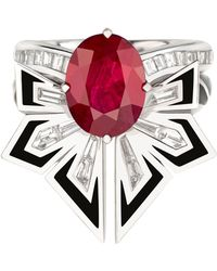 Stephen Webster - White Gold And Ruby Dynamite Couture Cocktail Ring - Lyst