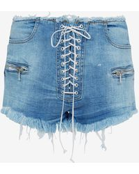 Unravel - Lace-up Shorts - Lyst