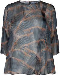 Armani - Sheer Printed Blouse - Lyst
