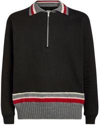 Maison Margiela Half-zip Sweater - Black