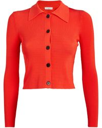 Sandro Cropped Cardigan - Red