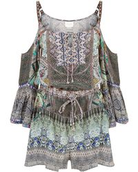 Camilla - Mama's Home Cold Shoulder Playsuit - Lyst
