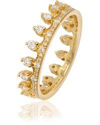 Annoushka - Diamond Crown Ring - Lyst