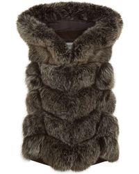 Max & Moi | Hooded Fox Fur Gilet | Lyst