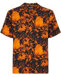 Axel Arigato Floral Print Shirt - Orange