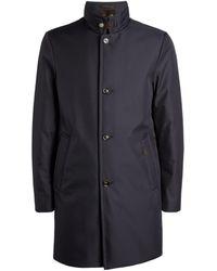 Moorer Padded Overcoat - Blue