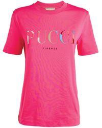 Emilio Pucci Logo T-shirt - Pink