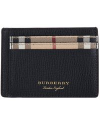 Burberry - Haymarket Check And Leather Card Case - Lyst