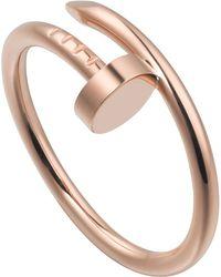 Cartier - Juste Un Clou 18ct Rose-gold Ring - Lyst
