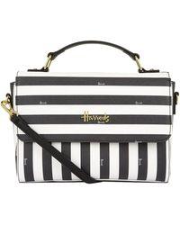 Harrods Boutique Multi Stripe Grab Bag - White