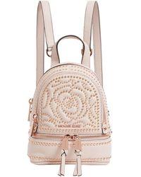 MICHAEL Michael Kors Mini Leather Rhea Backpack - Pink