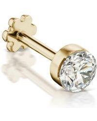 Maria Tash Yellow Gold Invisible Set Diamond Threaded Earring - Metallic