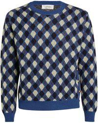 Wales Bonner Wool-rich Argyle Sweater - Blue
