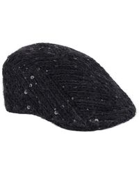 Brunello Cucinelli Sequin-embellished Flat Cap - Black