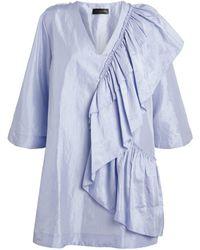 Stine Goya Ruffle-detail Marina Dress - Blue