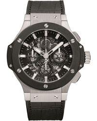 Hublot - Big Bang Aero Bang 44mm Steel Ceramic Chronograph Watch - Lyst