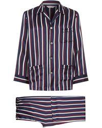 Derek Rose - Graphic Print Silk Pyjama Set - Lyst