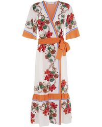 Sandro - Floral Wrap Dress - Lyst