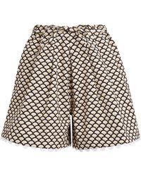 Kika Vargas Printed Scallop-trim Shorts - Multicolour