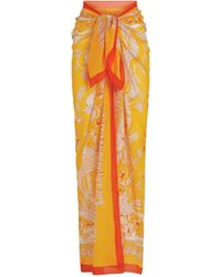 Emilio Pucci Cotton Printed Sarong - Yellow