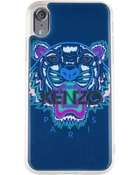 KENZO Tiger Iphone X Case - Blue