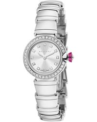 BVLGARI White Gold And Diamond Piccola Lvcea Watch 23mm - Metallic