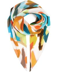 Issey Miyake Mixed Colours Crush Stole - Multicolour
