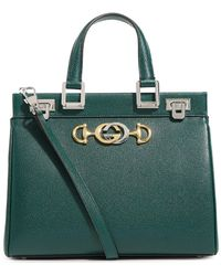 Gucci Small Leather Zumi Top-handle Bag - Green