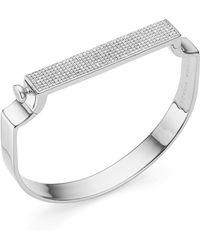Monica Vinader - Signature Diamond Bangle - Lyst