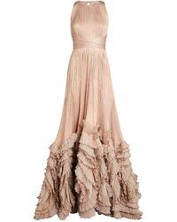 Maria Lucia Hohan Ruffle-detail Chloe Gown - Pink