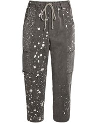 Song For The Mute Cotton-blend Cargo Pants - Grey