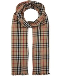 Burberry Vintage Check Scarf - Natural